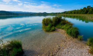 Lac de Clairveaux dans le Jura