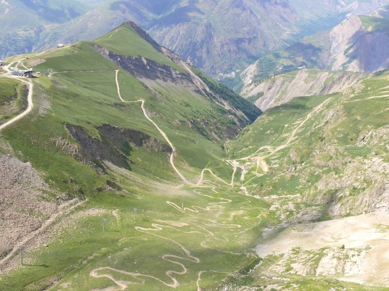 Les 2 Alpes en été saison du vtt