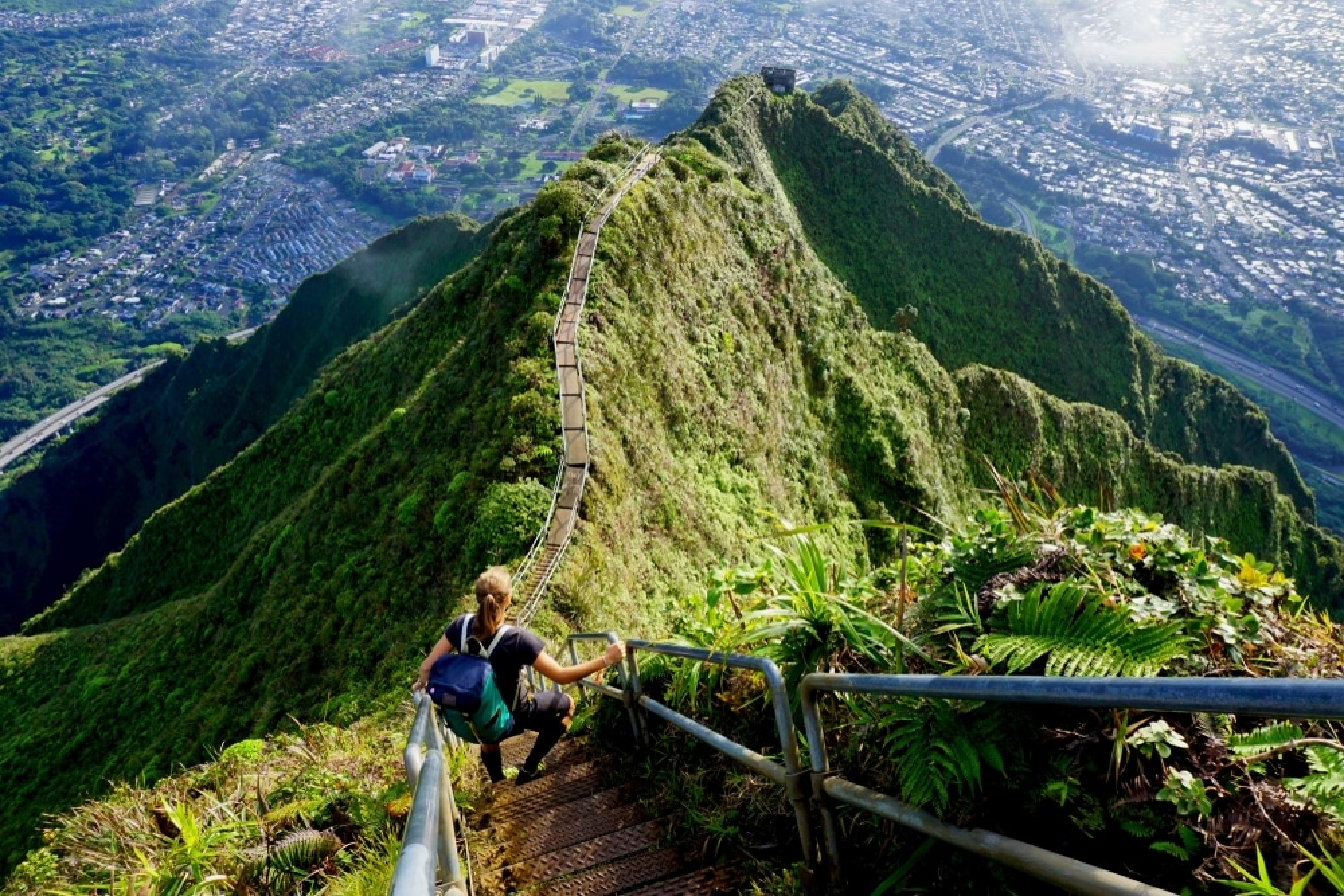 les Haikus Stairs escalier du paradis à Hawai