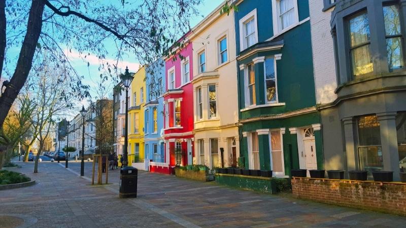 Londres gratuit visite Notting Hill