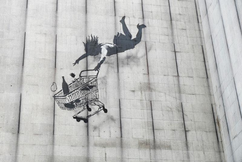 Londres street art - oeuvre de Banksy