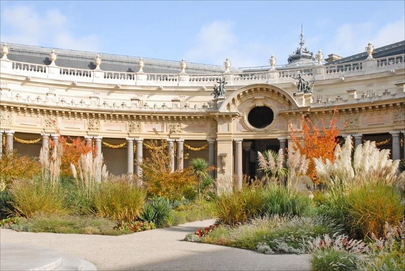 Petit Palais à Paris parc interieur