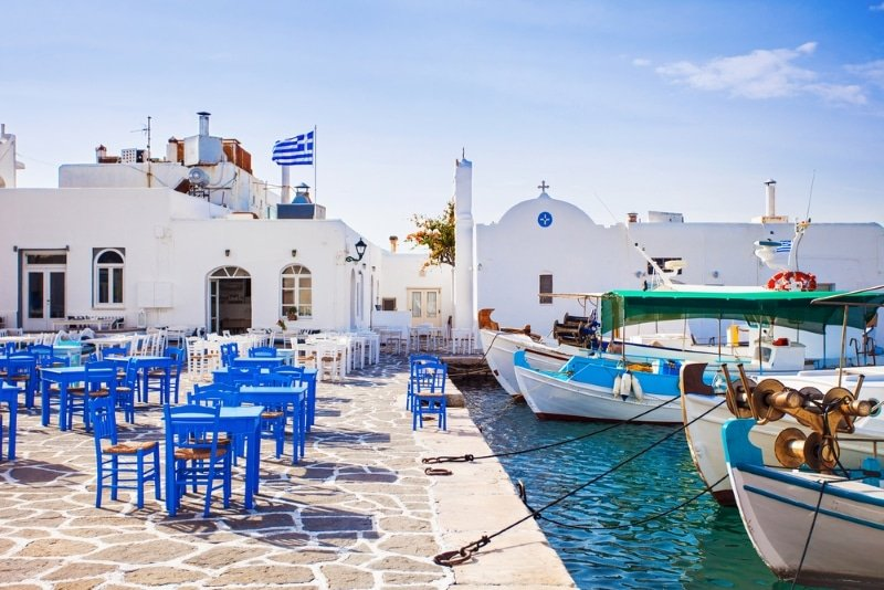 Restaurants à Naoussa en Grèce à Paros