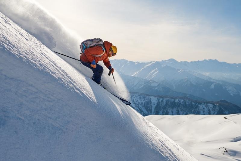ski hors piste dans les Alpes - La Grave