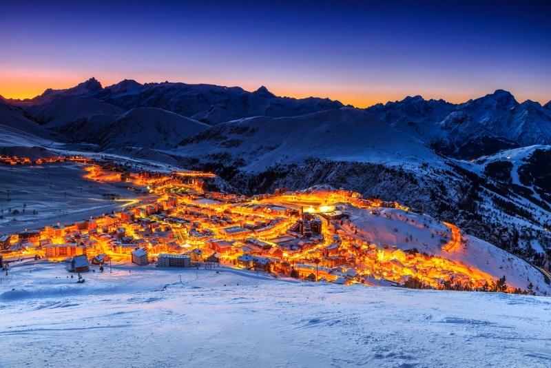 station de ski l'Alpe d'Huez reveillon du Jour de l'An