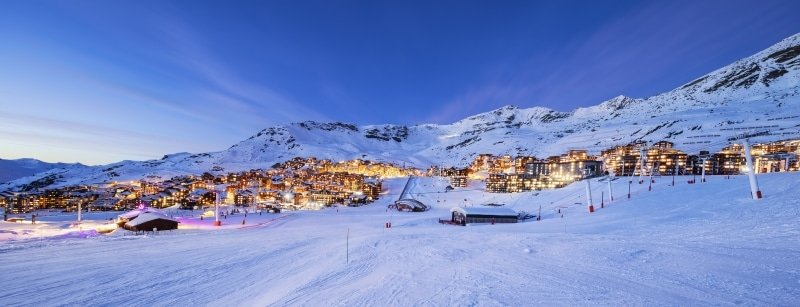 station de Val Thorens dans les Alpes