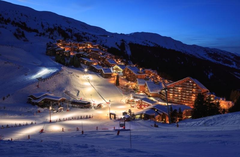 station ski Méribel hiver jour de l an