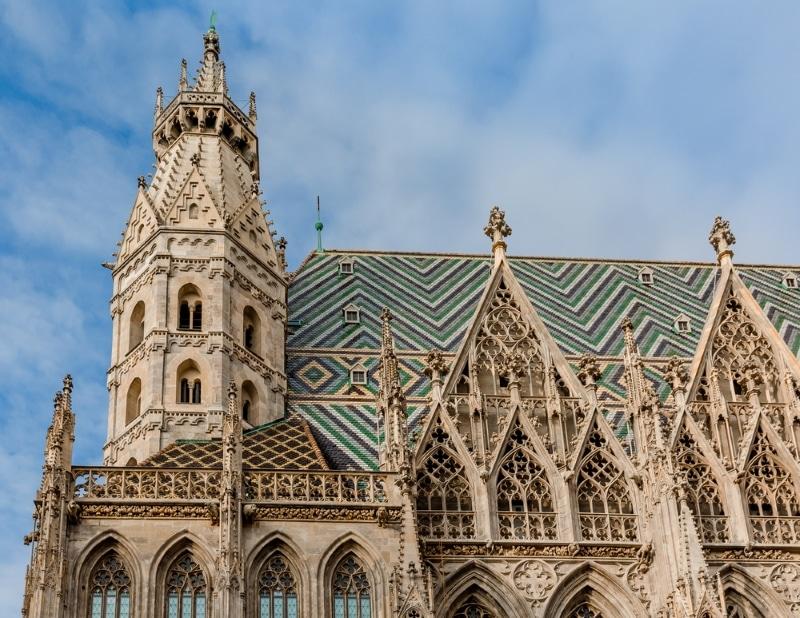 toits Cathédrale Saint Etienne Vienne