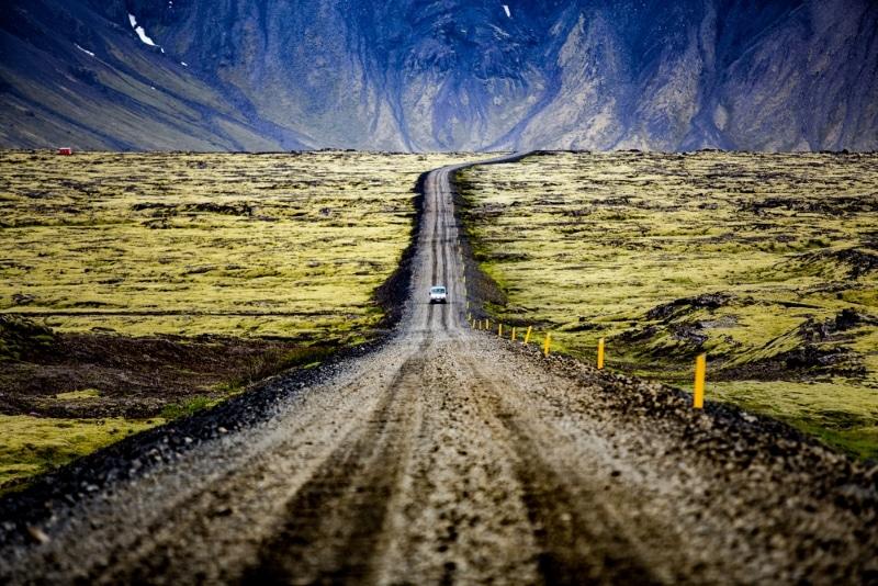 Reykjavik Islande chemin terre