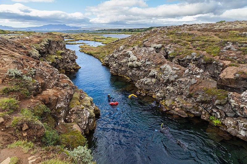 Silfra canyon en islande plongee