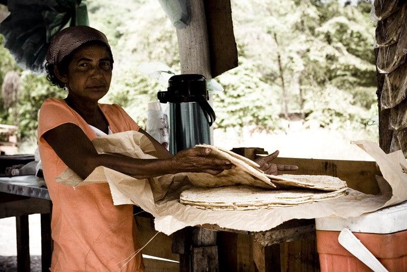 Spécialité locale casabe, Colombie