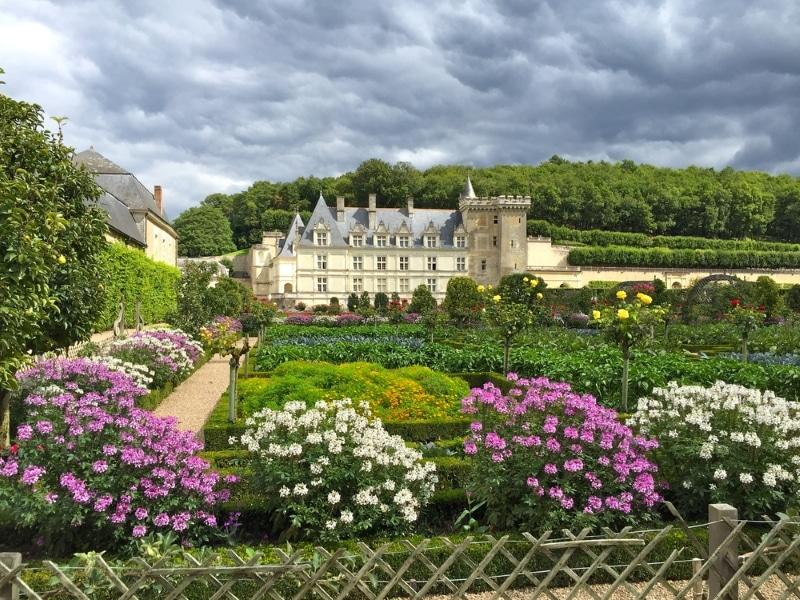 chateau de villandry jardin fleuri