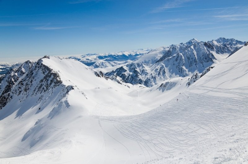 chien de traîneau, col de tourmalet neige pyrenees