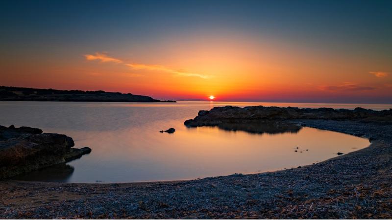 Coucher de soleil à Antiparos
