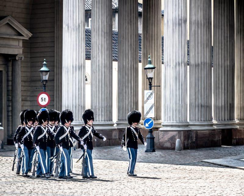 Relève de la garde royale, Copenhague