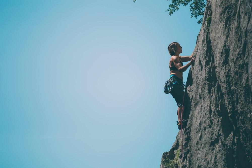 Estézargues grimper sur falaise