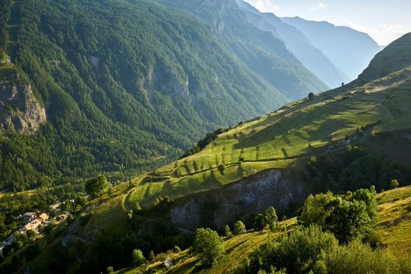 Faire du vtt dans les Ecrins - Paysage des Alpes