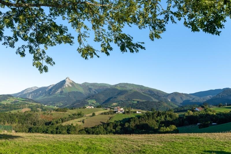 Goierri, montagnes dans le Pays Basque espagnol