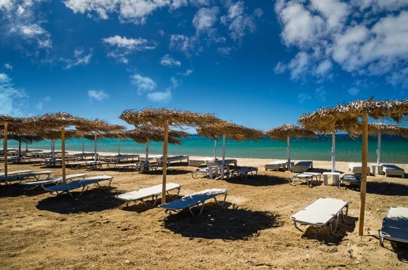 Golden beach à Paros