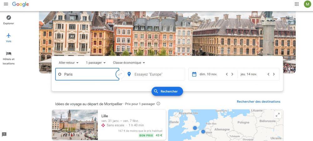 Google Flights : avantages et incovénients