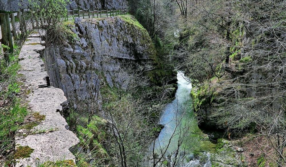 Gorges de Malvaux dans le Jura