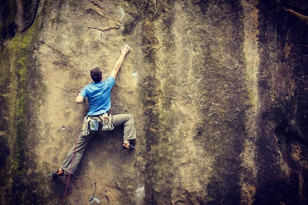 grimpeur dans le gard