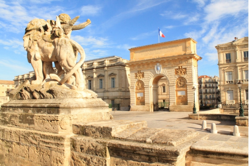 Historie de l'Arc de Triomphe de Montpellier