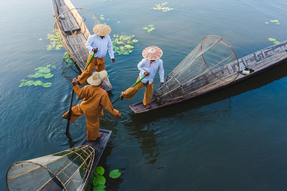 Lac Inle, Peuple Intha, Birmanie