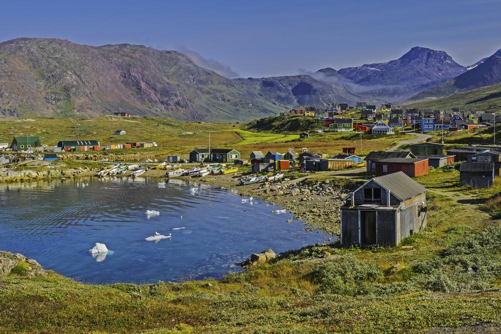 Village de Narsaq, Groenland