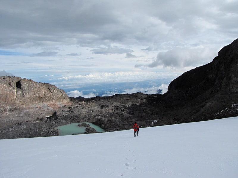 Glacier Nevado Santa Isabel, Colombie
