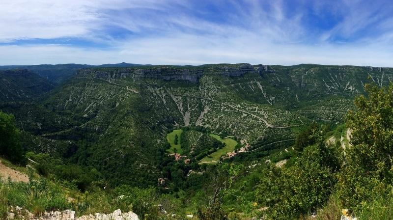 Parc National des Cévennes paysage pour du vtt