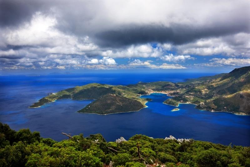 panorama ile ithaque mer et montagnes