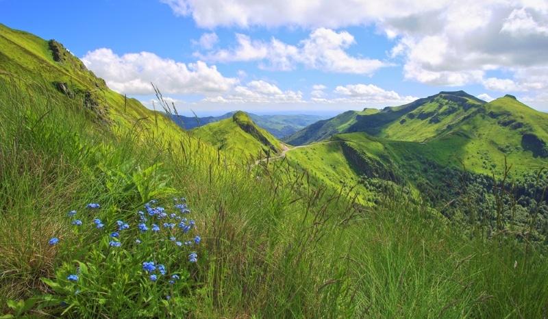 Parc National des Volcans Auvergne pour faire une rando vtt
