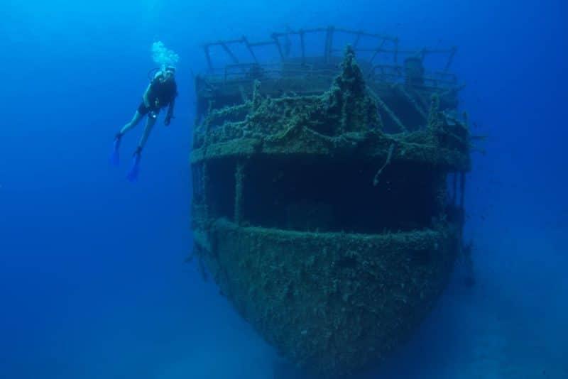 Epave du Marianna, plongée à Paros