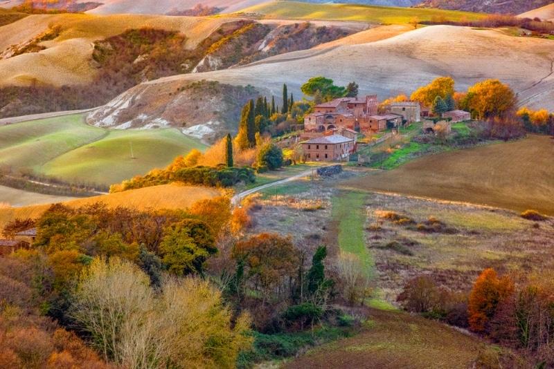 paysage italien en automne