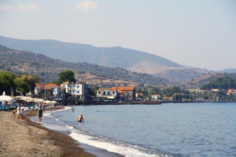 Pétra, Plage, Lesbos