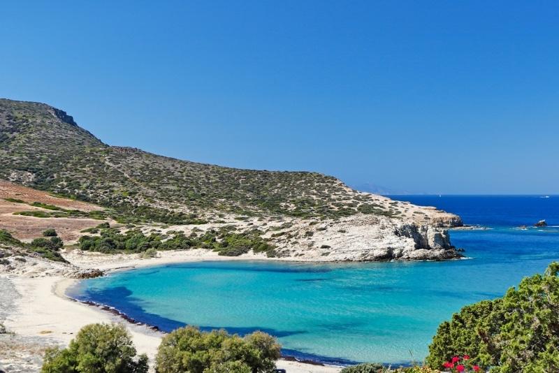 Une plage idyllique à Paros