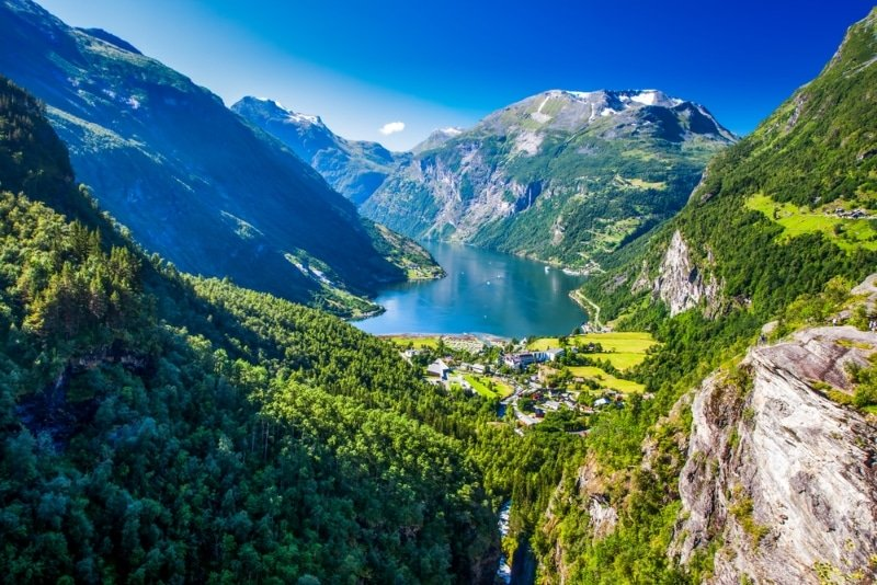plongée dans le Geirangerfjord