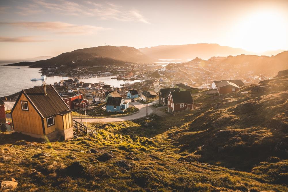 Vue sur Qaqortoq, Groenland
