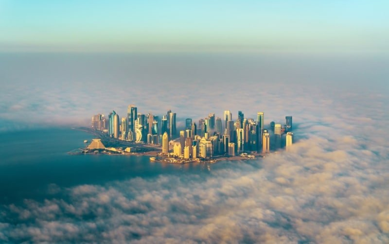 Qatar Doha mer de nuages