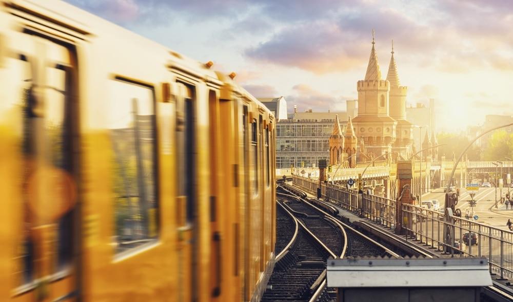 rails gare de berlin en allemagne
