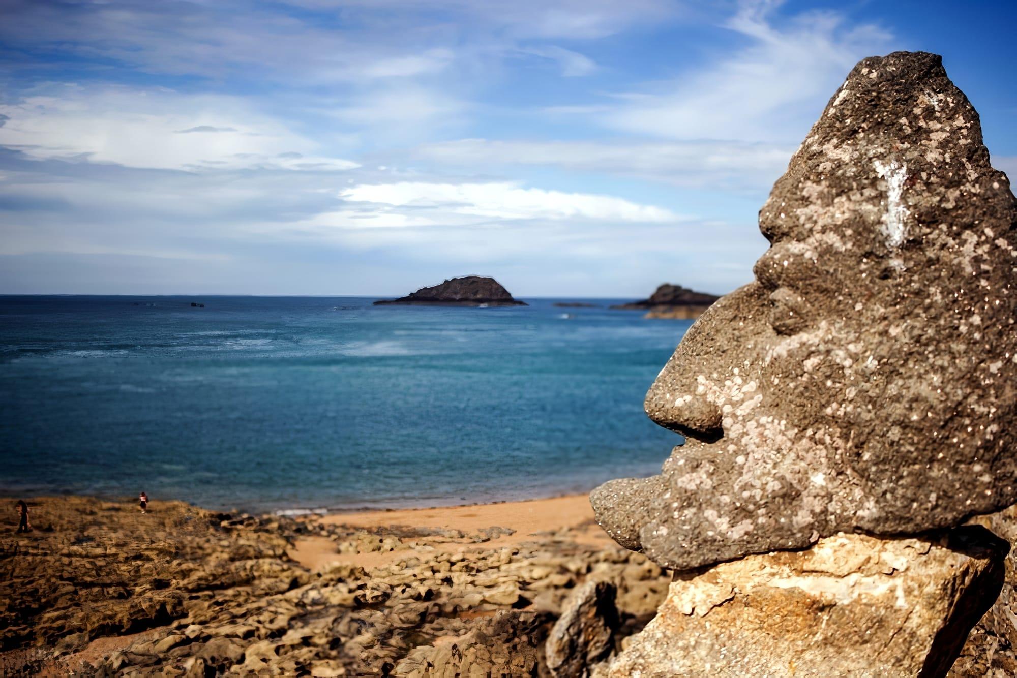 rochers sculptés Bretagne Saint Malo