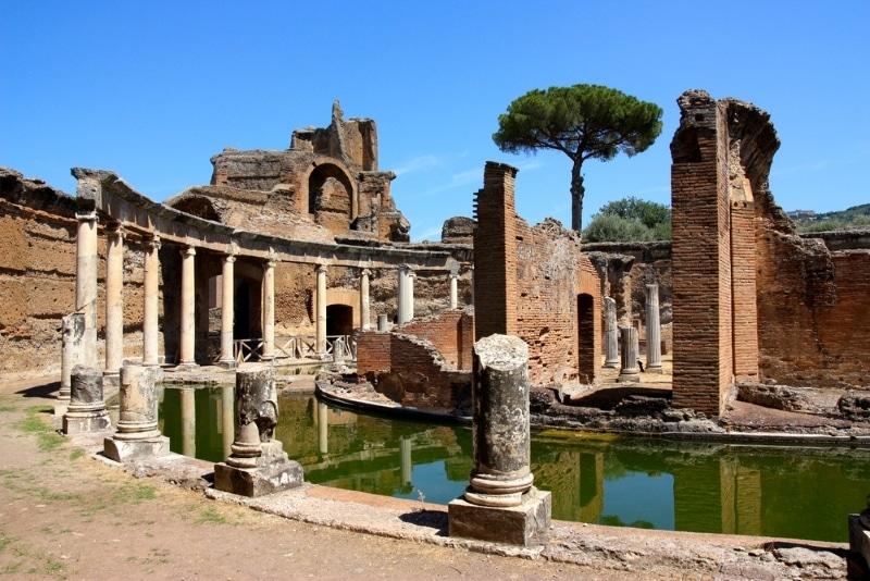 Rome, visiter la Villa d'Hadrien ruines