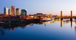 Sacramento en Californie de nuit