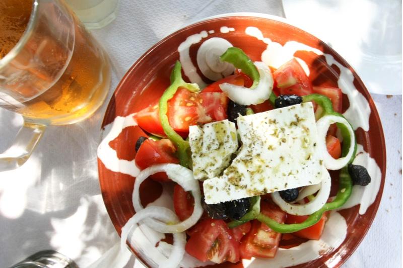 Salade Grecque, Taverne à Antiparos