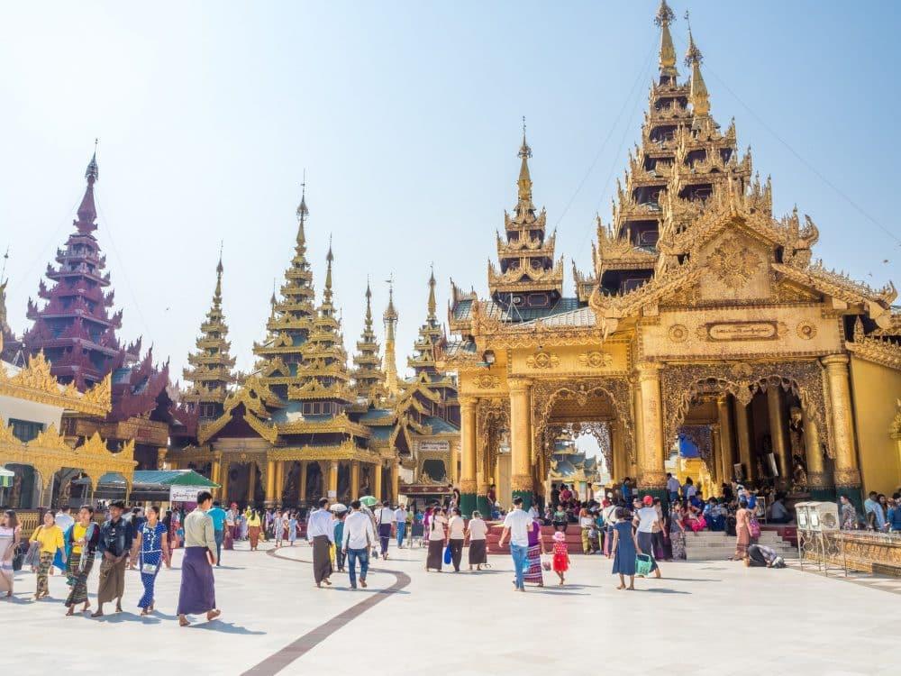 Pagode Shwedagon, Myanmar, Rangoon