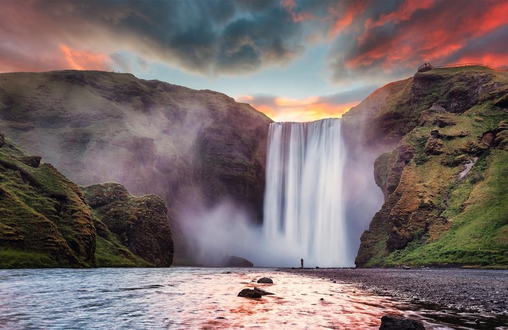 cascade de Skógafoss, Islande