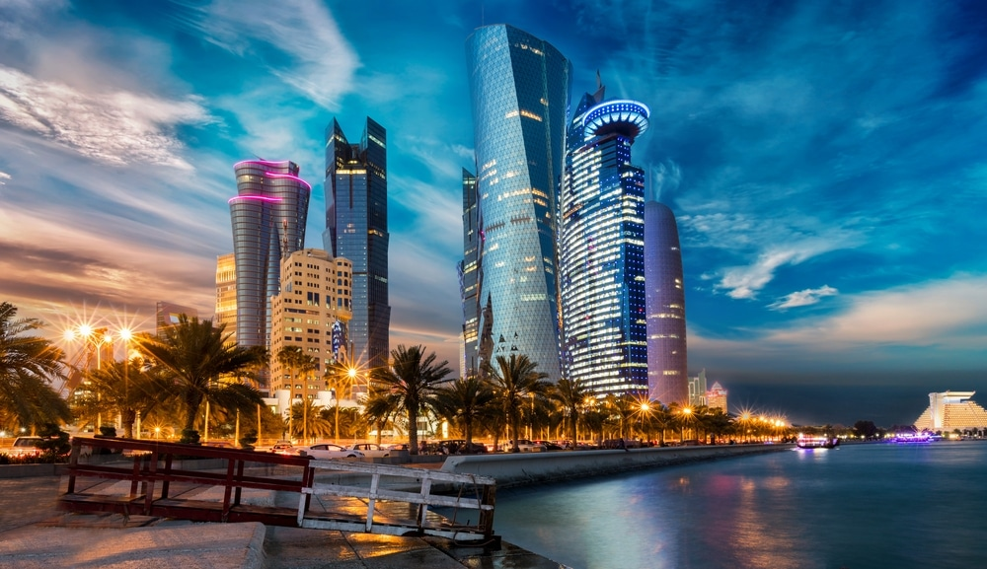 Skyline de Doha a Qatar