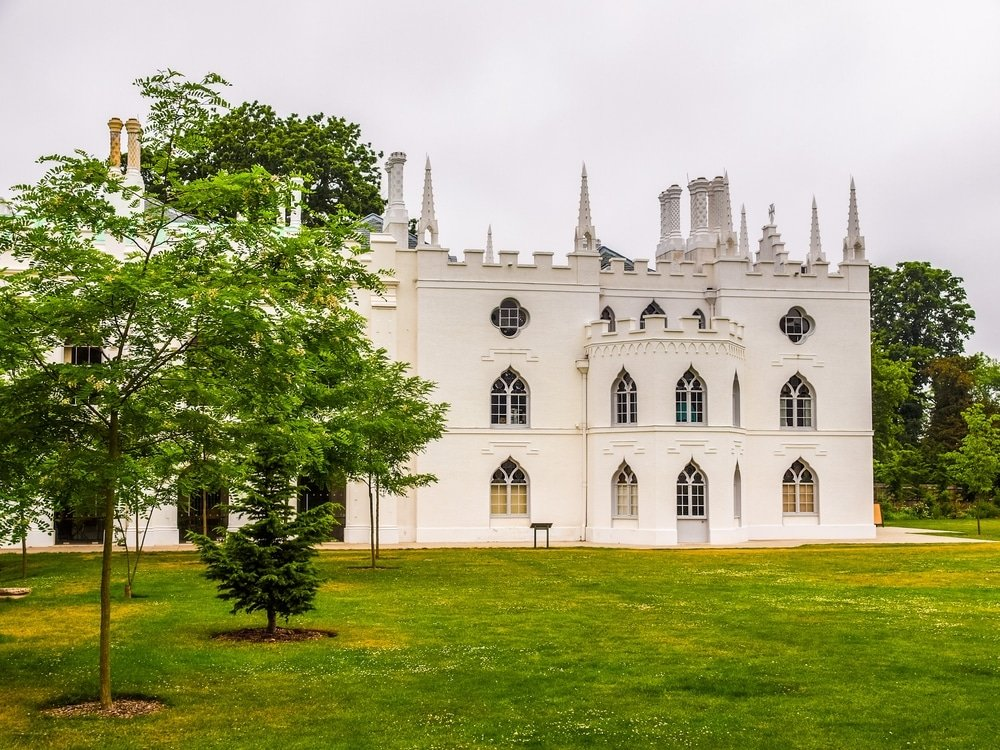 Strawberry Hill House dans la banlieue de Londres vue exterieur