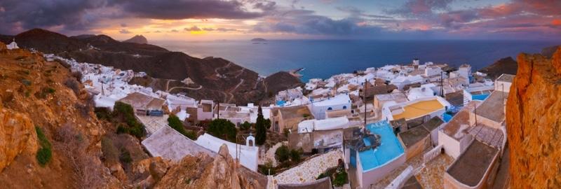 village de chora anafi ile grece